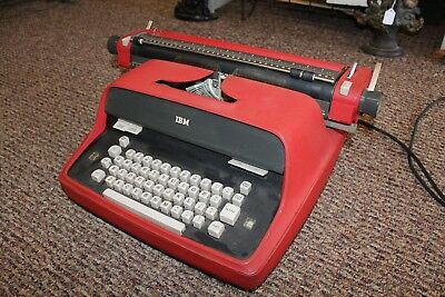 Vintage Red IBM Executive Typewriter Model 60s WORKS - Needs New Ribbon