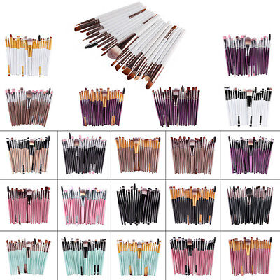 20PCS Make up Brushes Set Foundation Eyeshadow Eyeliner Powder Kabuki Style UK