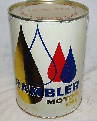 Rambler 5W-30 Winter Motor Oil Full Can: Car Care Chemical From The Sixties