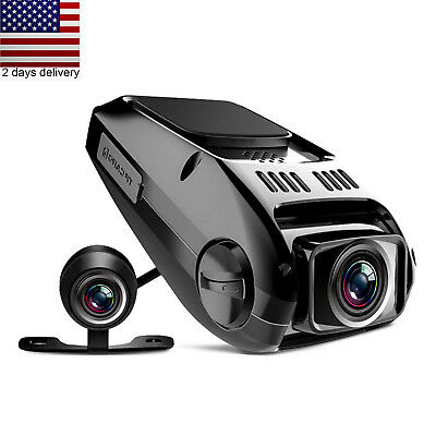 Dual Dash Cam Tryace T8P Full HD1080P 170 Wide Angle Dashboard Camera Recorder