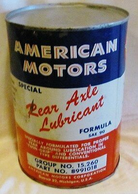 Rambler Rear Axle Lubricant Full Can: Car Care Chemical From The Sixties