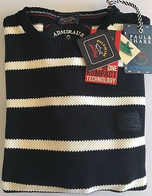 NEW Paul & Shark Yachting Sweater Pullover XL Admiral's Collection 100% WOOL