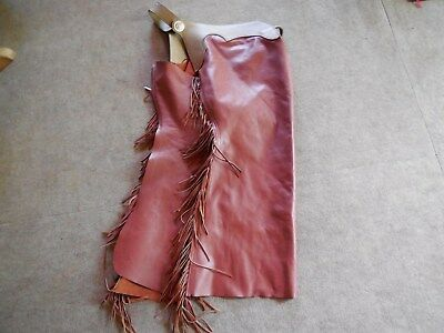 Rodeo ChapsCowboy Western  Riding Full Leather Chaps  Zippers