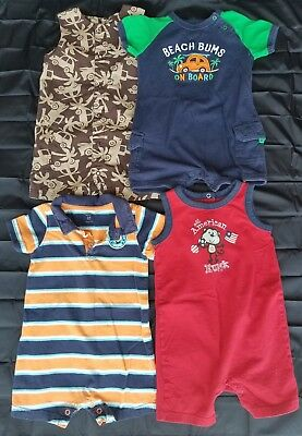 LOT One Piece Jumpers Toddler Boys Summer Outfits Size 24 Month