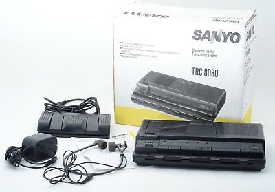 EXC Sanyo TRC-8080 Cassette Tape Desktop Transcriber w/ Accessories/Original Box