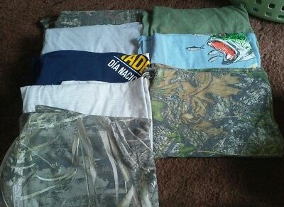 Mens Lot of 8 Shirts Size 2X Stained, Greasy, Old Work T-Shirts**Pre-Owned