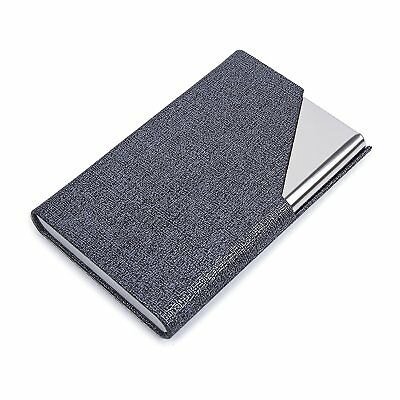 7b7efa67674e PU Leather Stainless Steel Business Card Holder Name Case With Magnetic Shut