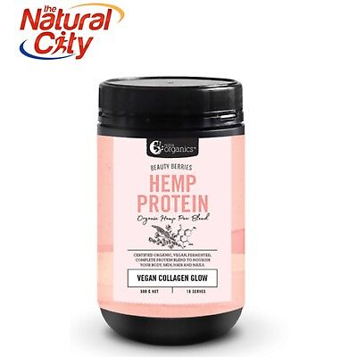 Nutra Organics Hemp Protein Beauty Berries 500g- Free Shipping