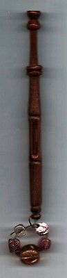 """Nice Antique Wood """"mother And Babe""""  Lace Bobbin"""