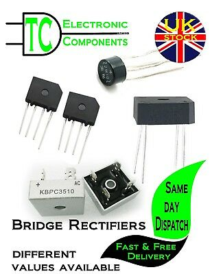 Bridge Rectifiers 2A-35A Different values available **UK SELLER**