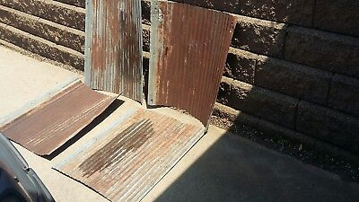 "Vintage Corrugated Metal for Art Projects, 4 pcs. 26"" x 30""."