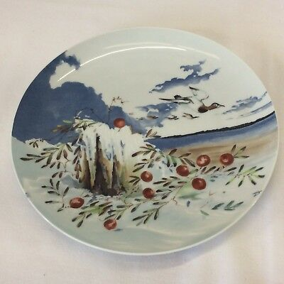 Haviland Limoges Co Collector Plate Vtg Hand Painted Signed Geese