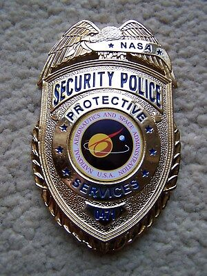 Unused NASA Security Police Protective Services Officer Badge