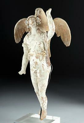 Greek Pottery Statue of Ganymede and Zeus/ Eagle Lot 19B