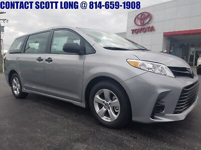 2018 Toyota Sienna Brand New 2018 Sienna L FWD SIlver New 2018 Sienna L FWD Silver Sky Metallic Rear Camera 2nd Row Captain Chairs