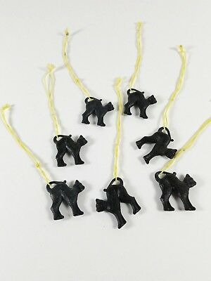 Vtg Black Cat Wine Charm tag Zell Mosel Zimmermann Graeff Lot of 7 Germany