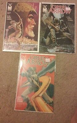 Green Arrow #1 , 2 ,3 ( 1988) set
