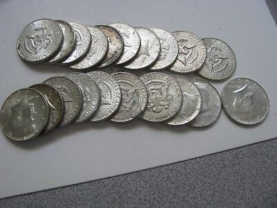 $10 Face Value Roll-20 - 1964 90% Silver Kennedy Half Dollar Avg Circ