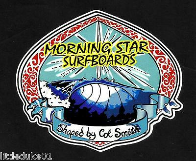 MORNING STAR 1970'S Surfboard Manufacturer NSW Sticker Decal LONGBOARD Surfing