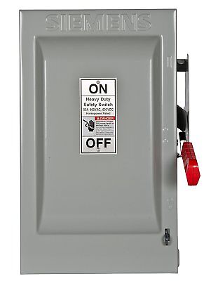 Siemens HNF362 60-Amp 3 Pole 600-volt 3 Wire Non-Fused Heavy Duty Safety Switch