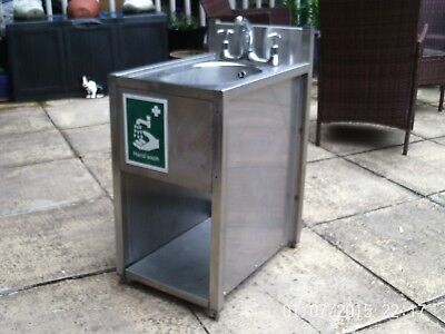catering floor standing stainless steel wash hand basin