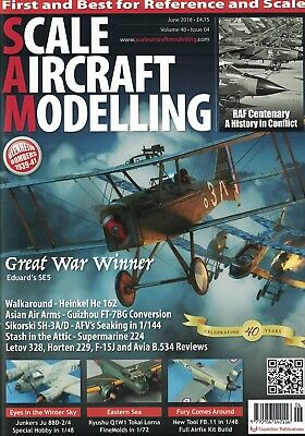Scale Aircraft Modelling Magazine - JUNE 2018 issue,Vol.40 No.04 -RAF100 Special