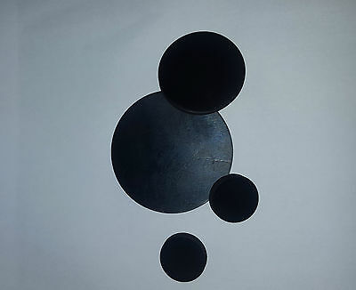 2 x Solid EPDM Rubber Discs - pick your own size - 3mm thick