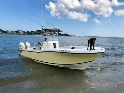 2004 26 Foot DUSKY Center Console with low hour Twin 175 HP Evinrudes