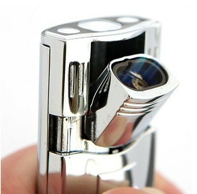 Tiger Double Torch Lighter In Silver, Butane Refillable For Cigar, Cigarette