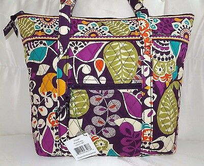 VERA BRADLEY Villager Tote Bag or Purse - Plum Crazy - Brand New with Tag