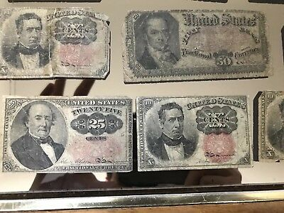 1863-1896 Civil War US Fractional Currency- .15 .25 .5 .50 cent notes