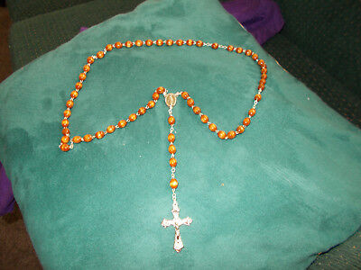 Rosary Beads Brown Wood