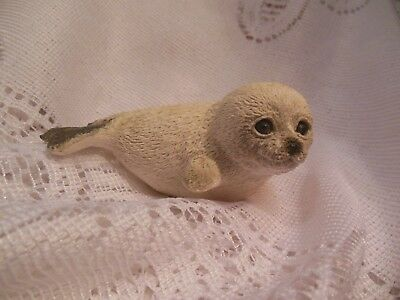 """Very Cute Baby Seal Figurine Made Of Resin--3"""" Long & 1 1/2"""" Tall"""