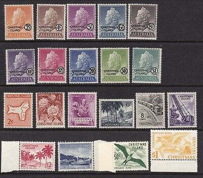 Christmas Island. 1958 and 1963 sets unhinged mint. SG1-20
