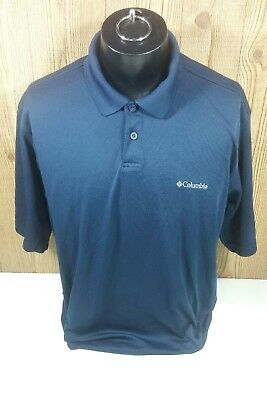 5942f9f27cb Columbia Omni Shade Navy Blue Polo Shirt Men Size XL Fun Outdoor Fishing  Camping