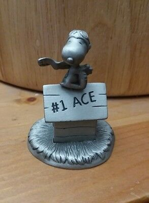 Snoopy Flying Ace Peanuts Gallery 2000 Hallmark Pewter Figurine 2nd Ed. Pc #4317