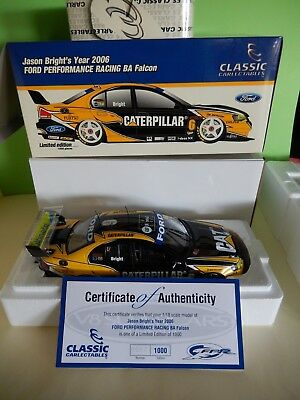 1:18 Classic Carlectables Jason Bright 2006 Fpr Racing Ba Falcon Season Car #6