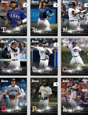 Topps Bunt Black Base  3.5x Boost Choose The Digital Card Includes Series 2