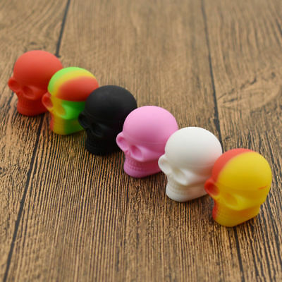 Nonstick Silicone Oil Concentrate Container Jar Vial Screw Skull Jars 3ml