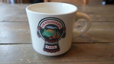 Vintage Boy Scouts Amaquonsippi Trail Coffee Mug Cup 3.25 inches