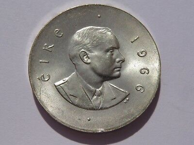 1966 Ireland Silver 10 Shilling Au+ No Reserve! Super Nice! Must See!!