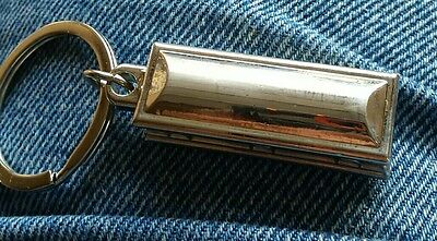 Silver Casket/Coffin Key Chain Key Ring Embalming Death Funeral