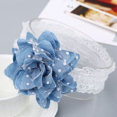 Cute Lace Dot Flower Kids Baby Girl Toddler Hair Band Headwear Accessories