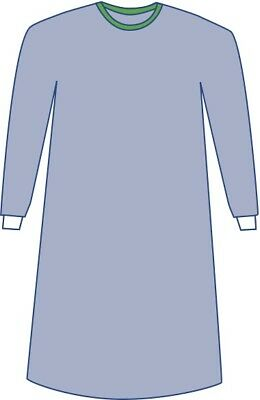Medline Sterile Non-Reinforced Eclipse Surgical Gown w/ Towel (L - 3XL) - 1 Each