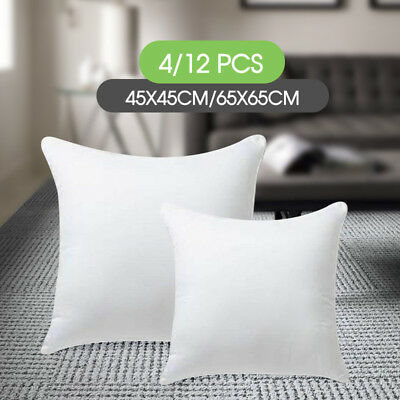 45x45/65x65cm Memory Resilient Cushion Pillow Inserts Polyester Filling 4/12 pcs