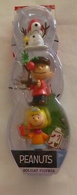 Adorable Peanuts Holiday Figures Set 3 Snoopy, Charlie Brown and Sally - New