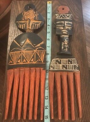 Hand Carved From Ghana Pair