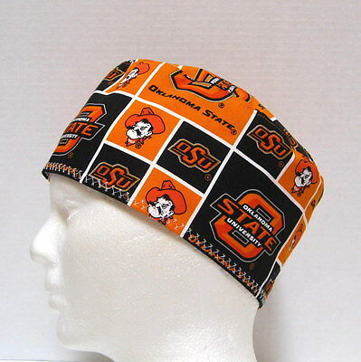 new york 35171 7778a Oklahoma State Mens Scrub Hat, Surgical Cap, Skull Cap, Chemo Hat