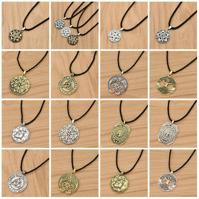 15 Choice Vintage Norse/Slavic Viking Pendant Necklace Wiccan Long Chain Jewelry