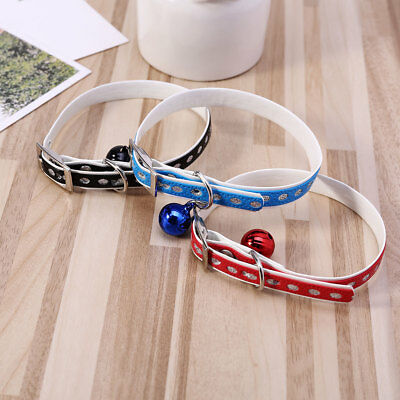 Cat Collar with Bell Pet Puppy Kitten Reflective Collar Cat Dog Cute Collars 1PC